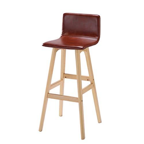 Tuqia Meubel Café Bar Stoel, Recept Tresen Hocker Balkon Terras Lounge Chair Hout PU Creatieve stoel Hoogte 74 cm Woonkamermeubels stoelen