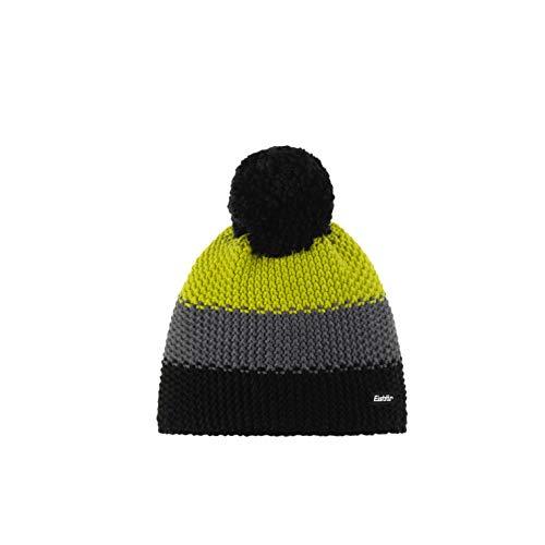 Eisbär Star Pompon Mütze, schwarz/anthrazit/Lime, One Size