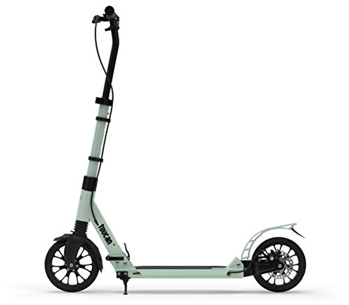 toucan -Scooter urbano premium para adultos con freno de mano, suspensión doble y altura ajustable | Patinete plegable con ruedas grandes de 200 m para adolescentes, niños a partir de 8 años