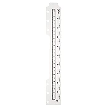 TUL Custom Note-Taking System Discbound Plastic Ruler 10  Clear