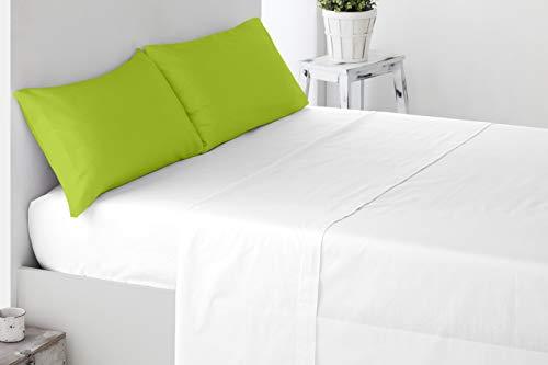 Miracle Home Housse de coussin douce et confortable, deux pièces, 50 % coton, 50 % polyester, Pistache, 150 cm