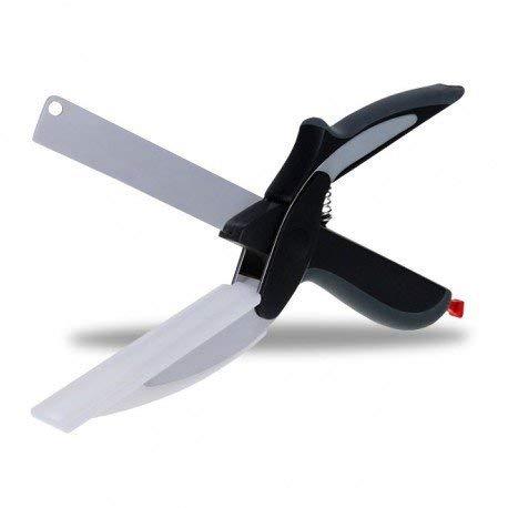 (CLEVER CUTTER) tabla de cortar cortador de verduras cortador inteligente tijeras como se ve en la televisión