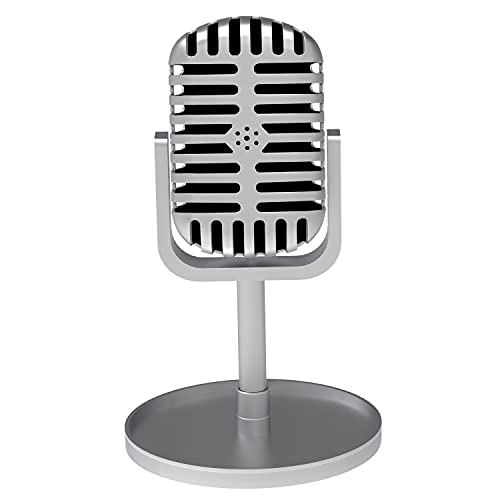 Vintage Toy Microphone Prop with Stand - Retro Microphones for costume...