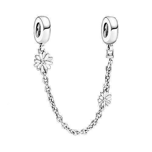 Collana di sicurezza in argento sterling con zirconi cubici trasparenti