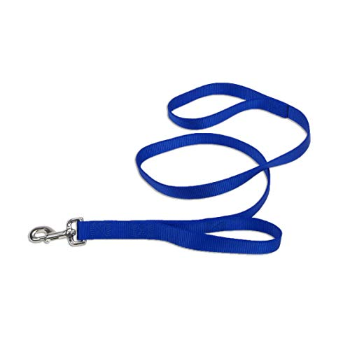 coastal pet dog leashes Coastal - Loops 2 - Double Handle Dog Leash, Blue, 1
