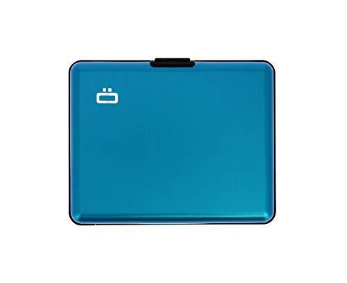 ÖGON Smart Wallets - Big Stockholm Geldbörse - RFID-Schutz: Schützt Ihre Karten vor Diebstahl - Bis zu 10 Karten + Belege + Notizen - Blau