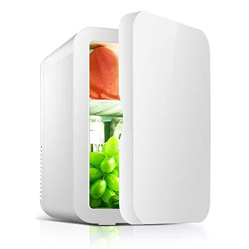 J.W. Mini Autokühlschrank 8 Liter tragbarer Kühlschrank im Fahrzeug Leiser kompakter Gefrierschrank Thermoelektrischer Kühler und Wärmer für Roadtrip Picknick Camping Office Party Gathering 48W,Weiß