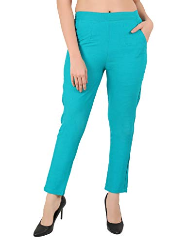 SAYLAH Women Cotton Casual Wear Relaxed Fit Trousers