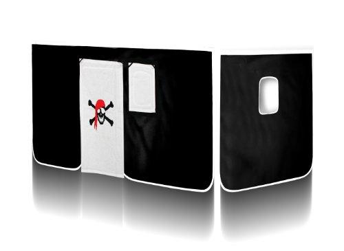 SixBros. Vorhang Pirat (Schwarz/Weiß) für Hochbett - VH-1036