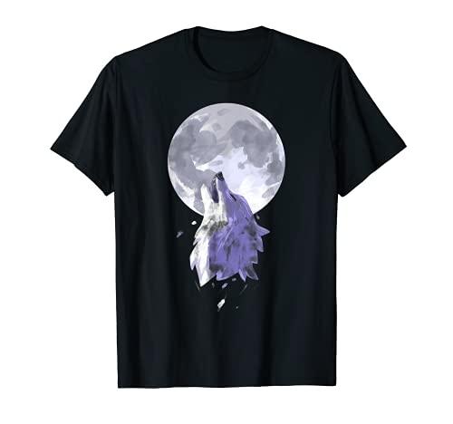 lobo Tshirt Hombres Mujeres niños Ropa de lobo Camiseta
