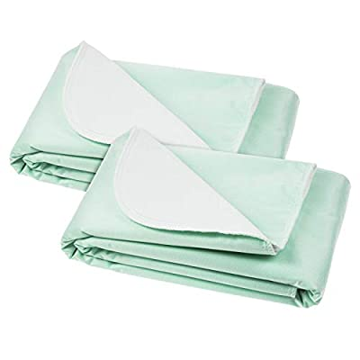 Vive Washable Incontinence Bed Pad - Heavy Duty, Absorbent Waterproof Urinary Mattress Protector - Overnight Sheet, Reusable Dry Bed Wetting Urinary Underpad Mattress Protection - Elderly Seniors, Kid