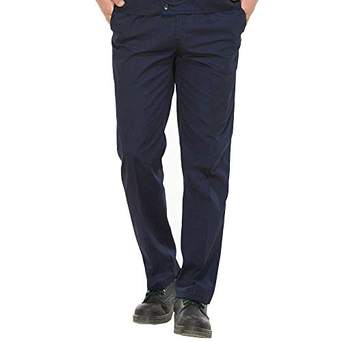 BOZEVON Pantaloni da Lavoro - Pantaloni di Sicurezza Ampi Pantaloni Multi-Pocket da Uomo,Blu,EU S=Tag M