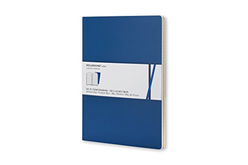 Moleskine Volant Notebook (Set of 2), Extra Small, Ruled, Antwerp Blue, Prussian Blue, Soft Cover (2.5 X 4)