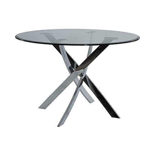 Powell Furniture Putnam Dining Table, Chrome