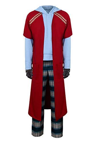 NUWIND Herren Fat Thor Cosplay Kostüm Casual Hoodie Lange Hose Pyjama Anzug Halloween Party Outfit