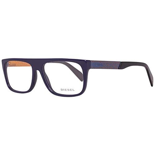 Diesel Brillengestelle DL5135 56090 Rund Brillengestelle 56, Blau