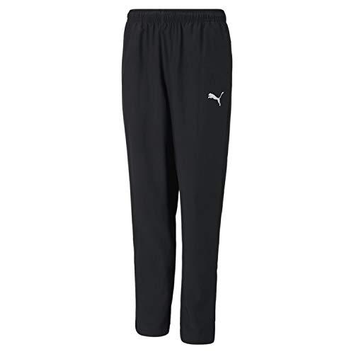 Puma Kinder teamRISE Sideline Pants Jr Jogginghose, Black White, 176
