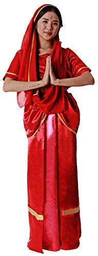 Gojoy Shop- Disfraz Hind para Hombre y Mujeres Carnaval (Contiene Gorro,Camisa ,Pantalon, Fajn y Espada o Top y Falda con pauelo, Talla Unica) (Mujer, Talla Unica)