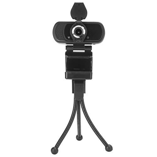 Mavis Laven HD Webcam with Mic,Portable 1080P Webcam USB Laptop Desktop Camera with Microphone Mini Tripod for Video Conference Live Broadcast Computer Webcam