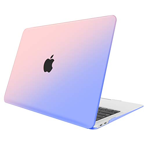Fintie Funda para MacBook Air 13 (2020/2019/2018) - Carcasa Dura con Acabado Mate Sedoso para MacBook Air 13 Pulgadas con Touch ID Pantalla Retina, Rosa Azul