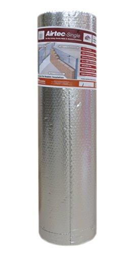 Airtec Luftpolsterfolie, mehrlagig, 1200 mm x 25 m x 3,7 mm
