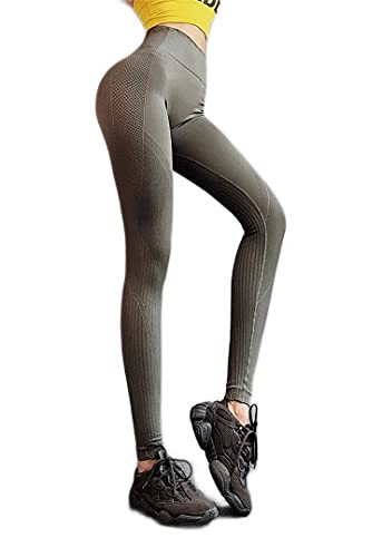 YIFEID Leggings Mujer Largas Pantalones De Yoga Mujeres Alta Cintura Deportes Leggings Fitness Gym Push Up Solid Running Entrenamiento Pantalones