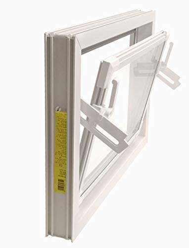 ACO 60cm Nebenraumfenster Kippfenster Einfachglas Fenster weiß Kellerfenster, Größe Kippfenster:60 x 40 cm