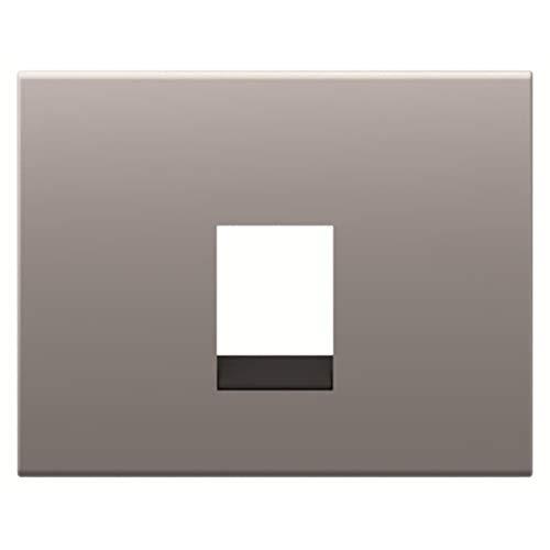 Placa de cubierta para tomas de teléfono o datos, tipo 8417, 31,3 x 15,2 x 5,5 centímetros, color acero pulido (referencia: 8417 AL)