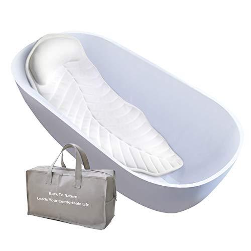 CoastaCloud? Cuscino per Vasca da Bagno Tappetini da Bagno con Cuscino Extra Lunghi Testa Collo e Spalle Tappetino antiscivolo per vasca da bagno