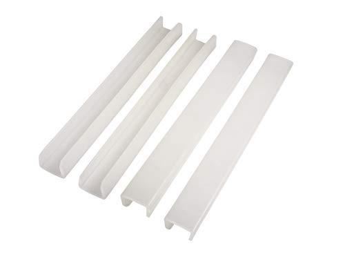 Prince Lionheart Protection Bords de Lit de 3 cm de Large Protège la Dentition Sûr/Non-Toxique/Matériau de Qualité Alimentaire Pas Besoin d'Adhésif, Blanc