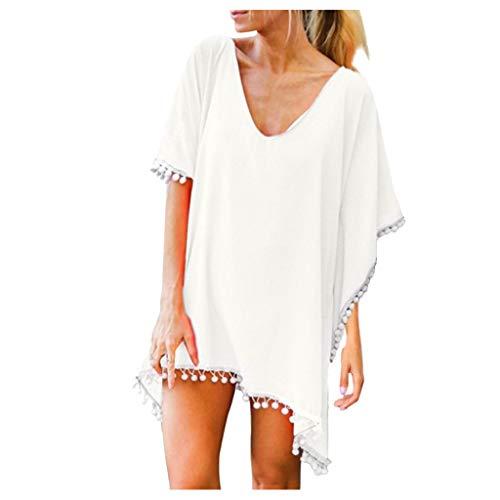 Hand gehäkelte Sonnenschutzhemd Bikini Bluse YunYoud Frauen Bikini Cover Up Cardigan Beach Badeanzug Kleid Sommer Strandkleid