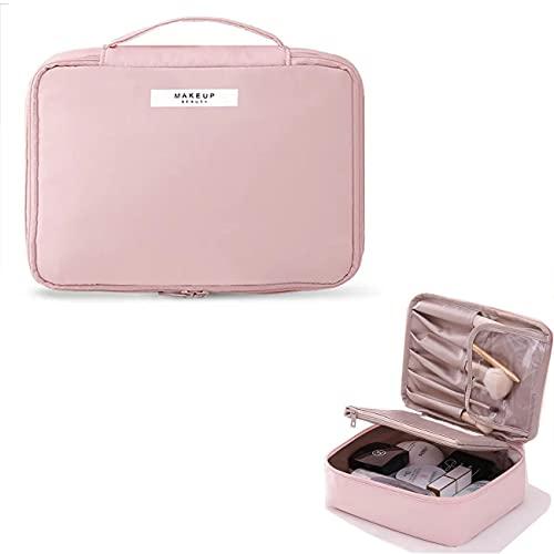 Borsa da Trucco,pochette trucchi ,Beauty Case da Viaggio Donna Borsa da Toilette,organizer per cosmetici per donne e ragazze,perfetto per viaggio/all'aperto(Rosa)