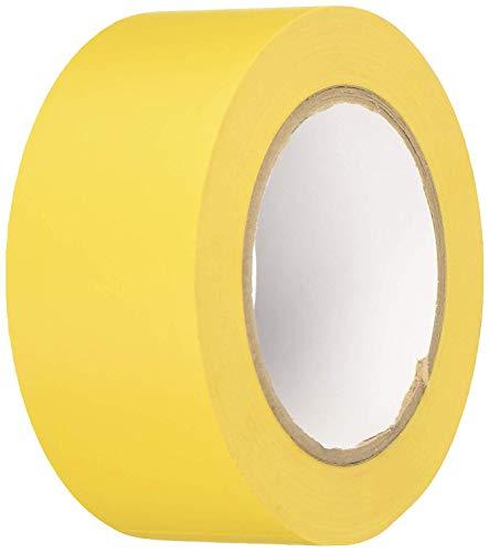 BONUS Eurotech 1BL23.42.0050/033A # PVC vloermarkeringsband, lijm op rubberen basis, zacht, lengte 33 m x breedte 50 mm x dikte 0,17 mm, geel