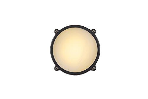 Lucide 14810/07/36 Hublot LED Applique Murale Extérieur, Aluminium, intégré, 6 W, Anthracite, 15,5 x 15,5 x 6 cm