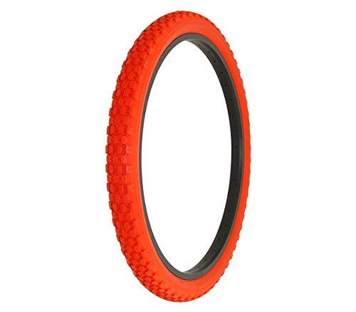 Alta Bicycle Tire Duro 26 x 2.125 Color Bike Tire Knobby Style Pattern (Red)