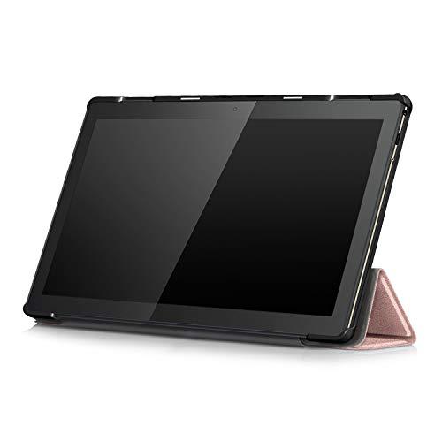 XITODA Hülle Kompatibel mit Lenovo Tab M10 TB-X605/TB-X505,PU Leder Tasche mit Stand Funktion Schutzhülle für Lenovo Tab M10 TB-X605F/L TB-X505F/L Case Cover,roségold