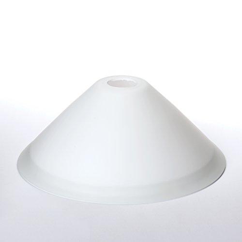 Glas Lampenschirm Ersatzglas weiß E14 Lochmaß Fassung ø 30mm Kegel Schusterschirm Glas opal