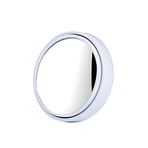 AJIHFD - Specchietto retrovisore per Auto, con Rotazione a 360°, Angolo cieco Regolabile, Specchio Convesso Universale per Auto Bianco