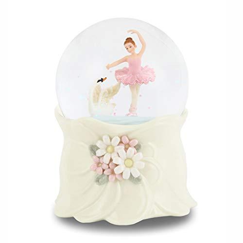 NYKK Music Box Crystal Ball Princess Music Box String Girl Music Box Child Birthday Cute Snowflake Music Box Musical Box (Color : Swan Lake)