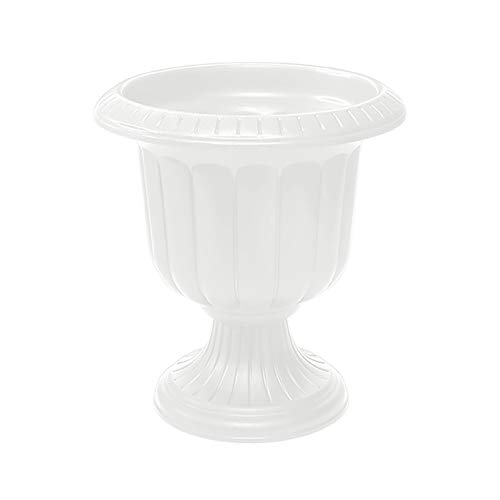 Novelty 38192.03 Classic Urn Planter, White, 19 Inch