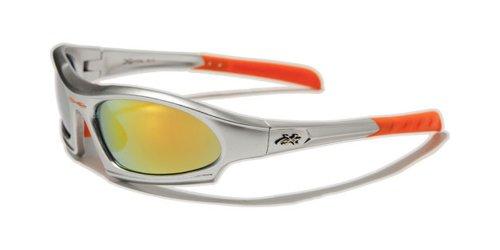 X de Loop Gafas de Sol Deportes Ciclismo Esquí Correr Driving Motorista/One Size Adult/100% Protección Uv400, Plata