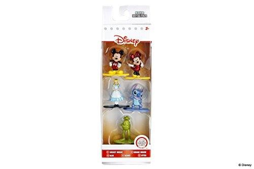 Jazwares – Nano Metalfigs Disney Pixar – Pack de 5 Figuras (Mickey Minnie Alice Kermit Stitch), 98668