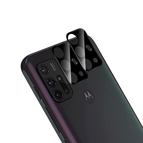 QULLOO para Motorola Moto G30 / G10 Protector de Lente de Cámara,[2 Pack] 9H Dureza HD Film Antiarañazos Vidrio Cristal Templado Cámara Lente Protector Pantalla - Negro