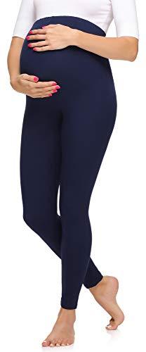 Merry Style Leggins Premamá Pantalones Largos Mujer MS10-297 (Azul Marino, L)
