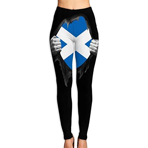 Harla Women's Leggings Yoga Pants Scotland Flag Proud High Waist Workout Sports Capri Pants