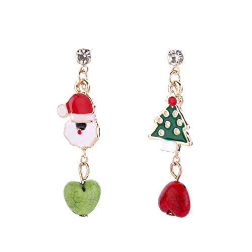Qimao Muñeco de Nieve/del árbol del corazón Pendiente de la aleación de Las borlas del oído Gota Muchacha de Las Mujeres joyería y Accesorios