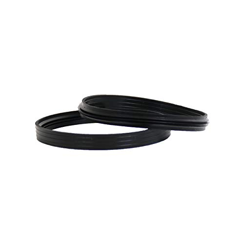 LANZZAS Pelletrohr Silikon-Dichtring - für den Durchmesser Ø 100 mm - Ersatz Dichtung für Pelletrohre (für innenliegenden Muffen)