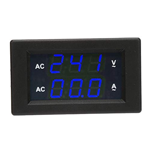 Voltímetro, amperímetro de CA profesional, voltímetro digital, duradero para el hogar de laboratorio con un transformador de alta precisión(Blue)