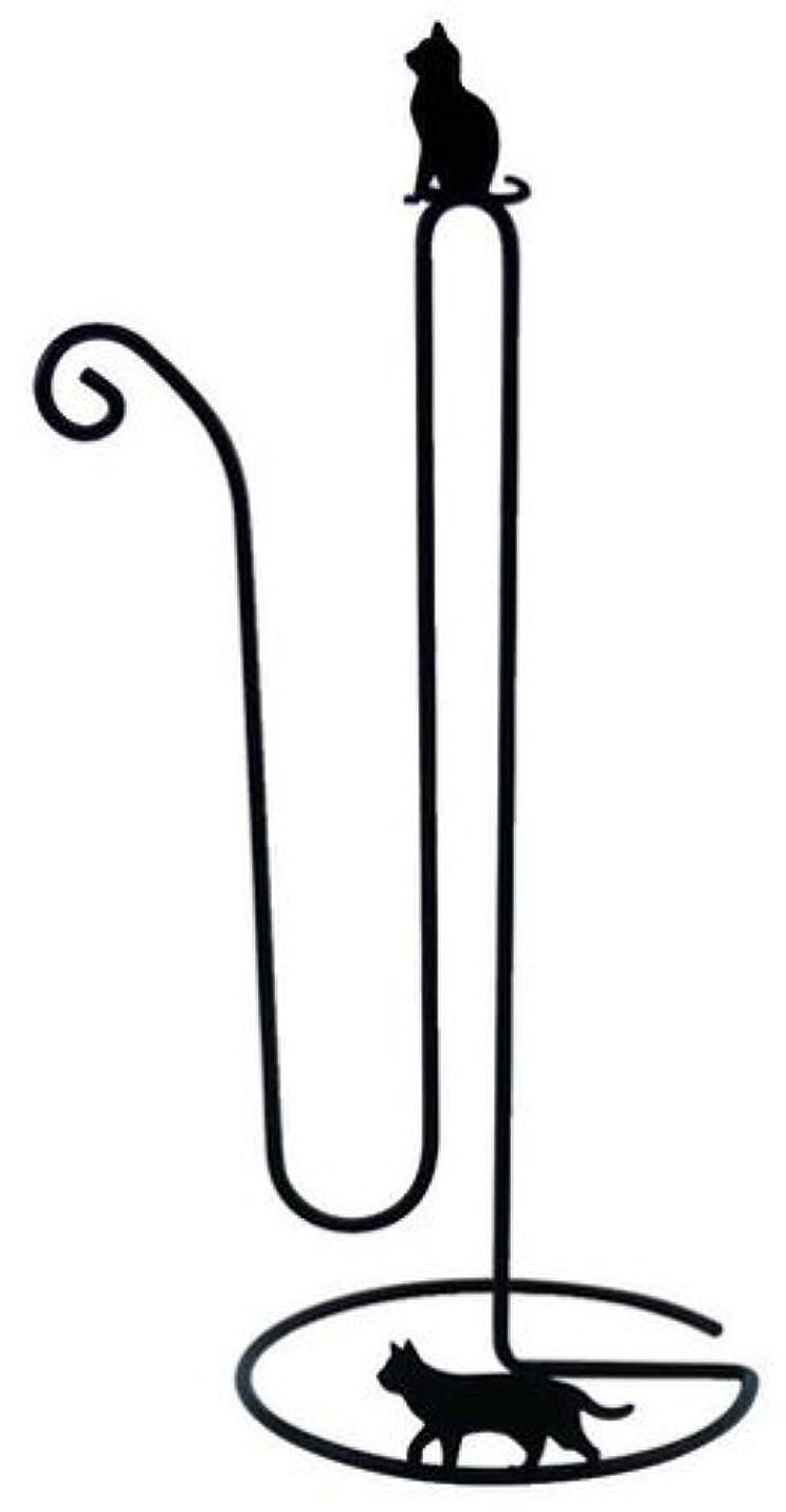 スキャンダラスコーラスクリップ蝶Abeille トイレットペーパーストッカー ネコ ブラック AIT-1055