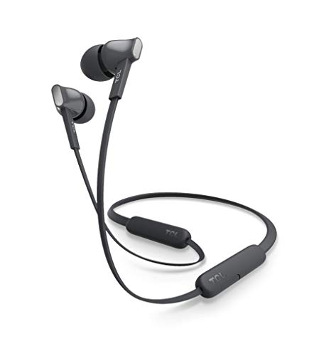 TCL MTRO100BT Wireless in-Ear Earbuds Noise Isolating Bluetooth Headphones with 18 Hour Battery Playtime and Built-in Mic - Shadow Black